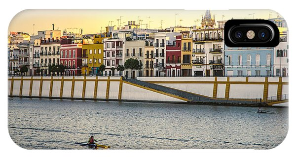 Seville - Sunset In Calle Betis IPhone Case