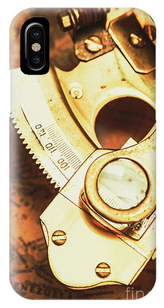 Navigation iPhone Case - Sextant Sailing Navigation Tool by Jorgo Photography - Wall Art Gallery