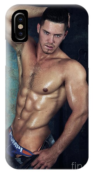 Gay Men iPhone Case - Sexy Male  by Mark Ashkenazi