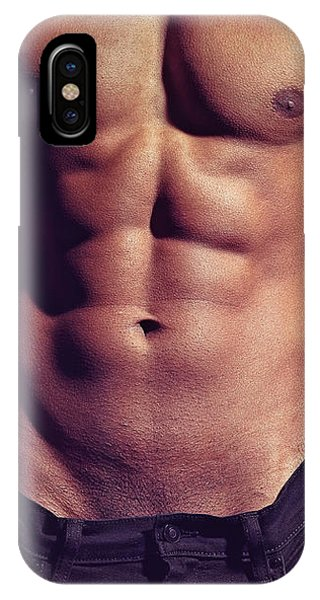 Sexy Male Muscular Body IPhone Case