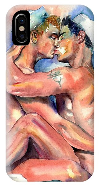 Kiss iPhone Case - Sexy Sailors by Suzann Sines