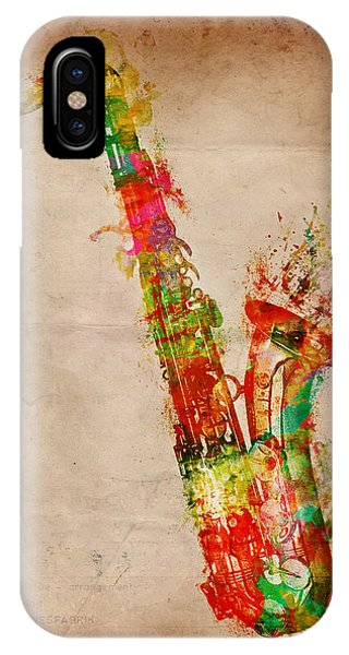 Electric Guitar iPhone Case - Sexy Saxaphone by Nikki Smith