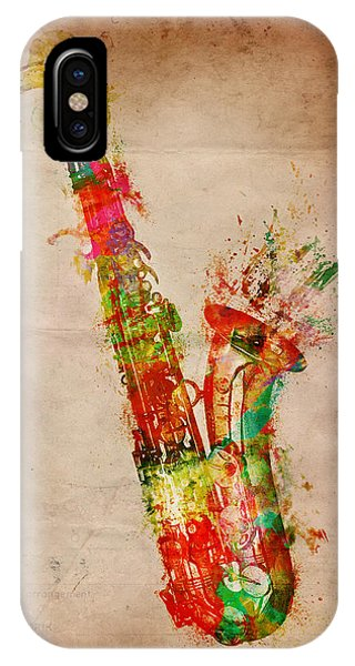 Saxophone iPhone Case - Sexy Saxaphone by Nikki Smith