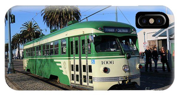 Sf Muni Railway Trolley Number 1006 IPhone Case