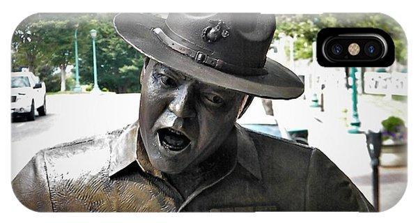 Sgt. Carter Statue In Clarksville, Tn IPhone Case