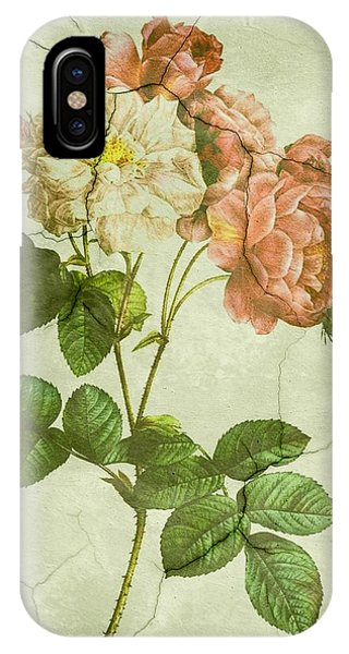 Shabby Chic Pink And White Peonies IPhone Case