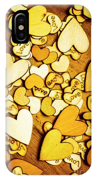 Romantic Background iPhone Case - Shabby Love Artwork by Jorgo Photography - Wall Art Gallery