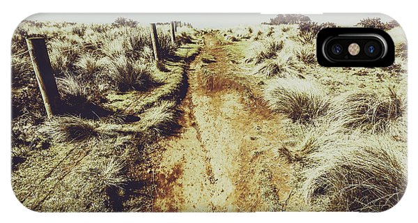 Rural iPhone Case - Shabby Outback Path by Jorgo Photography - Wall Art Gallery