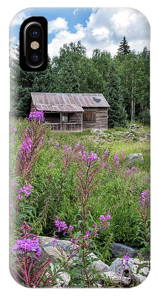 IPhone Case featuring the photograph Shack With Fireweed by Denise Bush