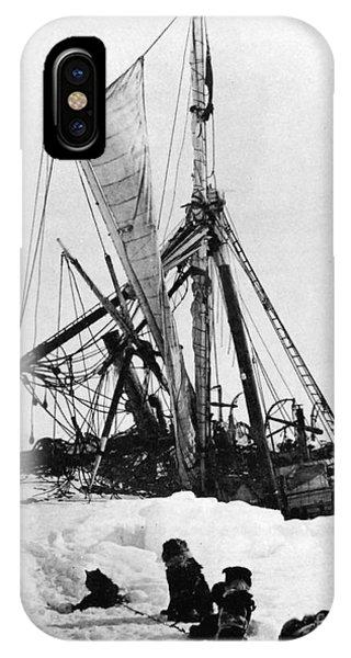 Sled Dog iPhone Case - Shackletons Endurance by Granger
