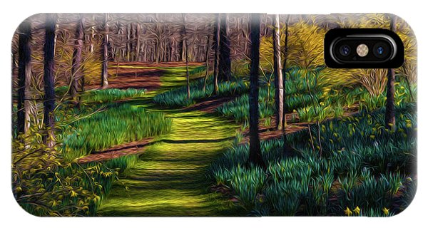 Shaded Spring Stroll IPhone Case