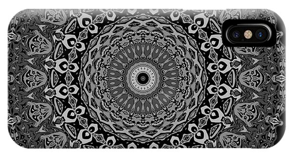 IPhone Case featuring the digital art Shades Of Gray No. 6 by Joy McKenzie