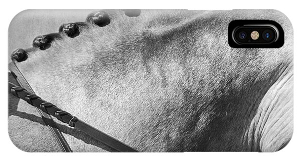 Shades Of Grey Fine Art Horse Photography IPhone Case