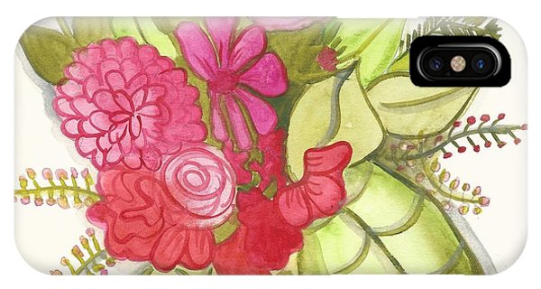 Shades Of Red Bouquet IPhone Case