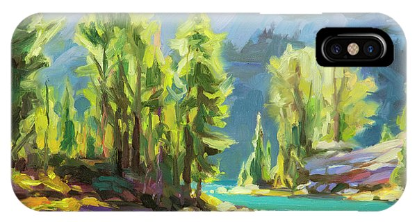 Hiking iPhone Case - Shades Of Turquoise by Steve Henderson