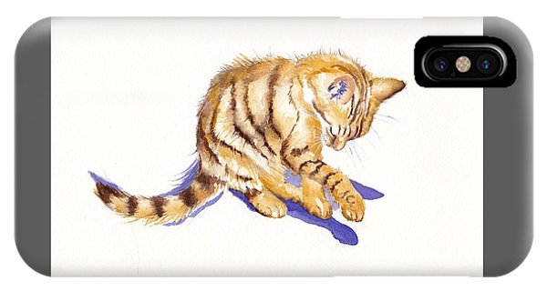 Cat iPhone X Case - Shadow Boxing by Debra Hall