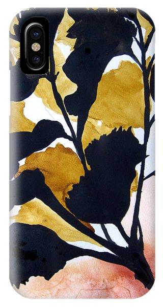 Shadow Hibiscus IPhone Case