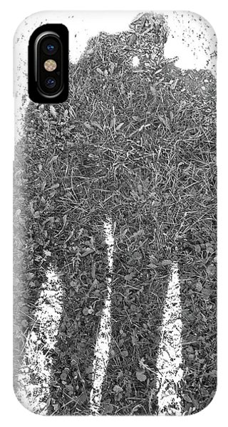 Shadow In The Meadow Bw IPhone Case