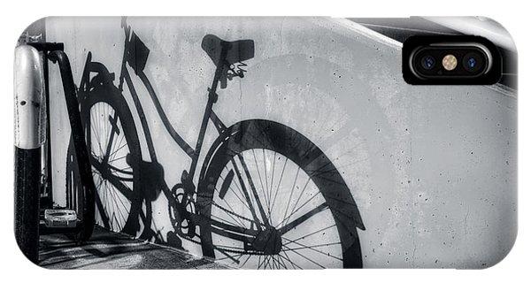 Shadow Of A Bike At Carolina Beach IPhone Case