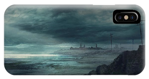 Boston iPhone Case - Shadow Over Innsmouth by Guillem H Pongiluppi