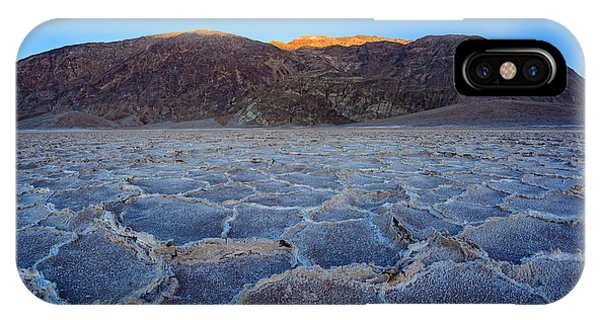 Shadows Fall Over Badwater IPhone Case