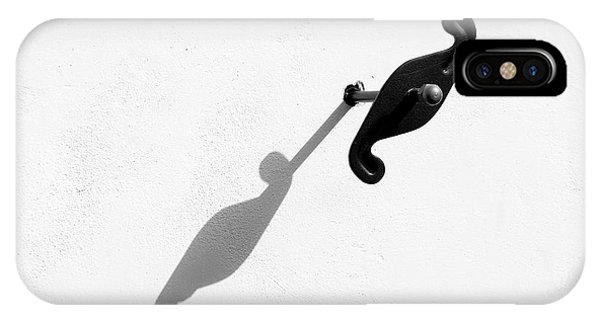IPhone Case featuring the photograph Shadows On White by Michalakis Ppalis