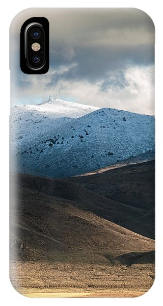 IPhone Case featuring the photograph Shaffer With Snow by The Couso Collection