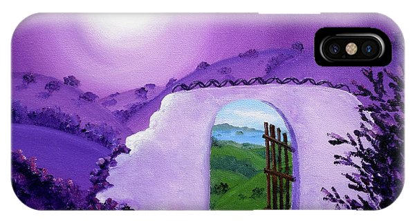 San Miguel iPhone Case - Shaman's Gate To Summer by Laura Iverson