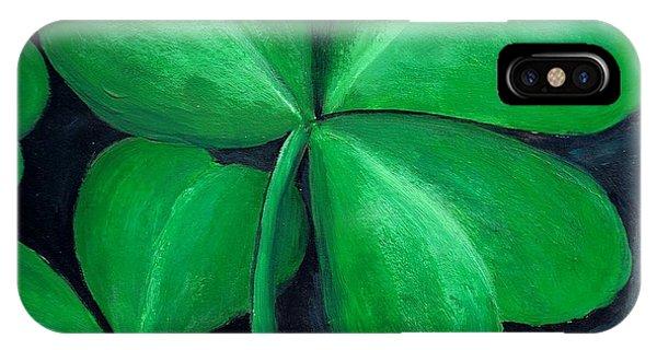Irish iPhone Case - Shamrocks by Nancy Mueller