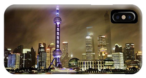 Shanghai Skyline IPhone Case