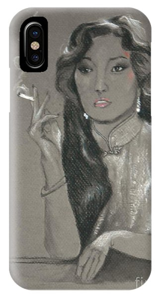 Shanghai Triad -- Portrait Of Chinese Film Star IPhone Case