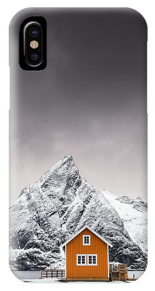 House iPhone Case - Shapes Of Lofoten by Mikkel Beiter