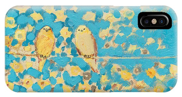 Couple iPhone Case - Sharing A Sunny Perch by Jennifer Lommers