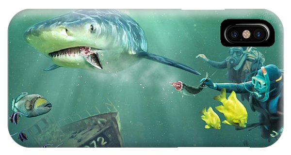 Reef Diving iPhone Case - Shark Bait by Don Olea