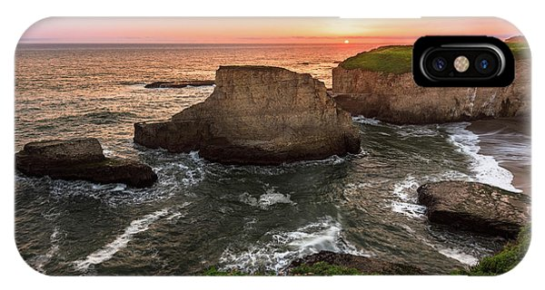Shark Fin Cove Sunset IPhone Case