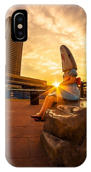 Shark Girl Dawn - Square IPhone Case