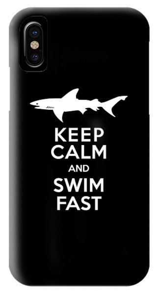 Shark Keep Calm And Swim Fast IPhone Case