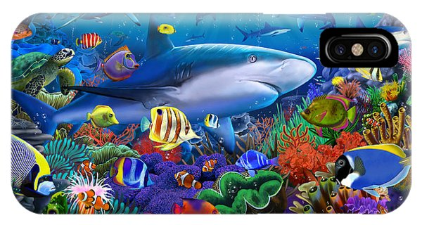 Reef iPhone Case - Shark Reef by MGL Meiklejohn Graphics Licensing