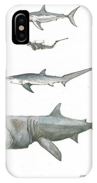 Sharks In The Deep Ocean IPhone Case