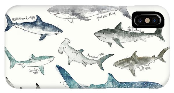 Sharks - Landscape Format IPhone Case