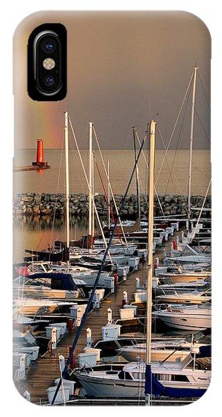 Sheboygan Harbor Rainbow IPhone Case