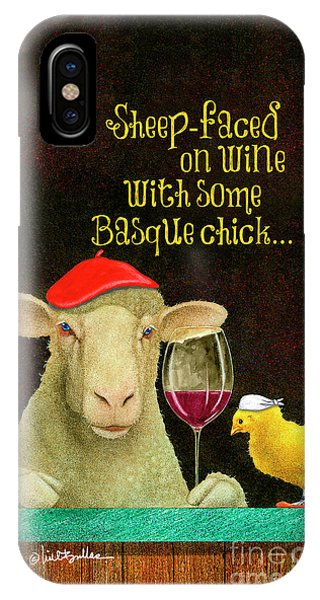 sheep-faced on wine with some Basque chick... IPhone Case
