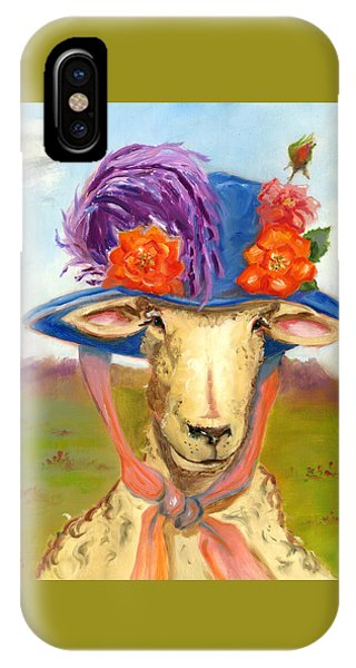 Sheep In Fancy Hat IPhone Case