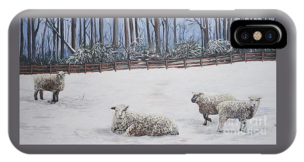 Sheep In Field IPhone Case