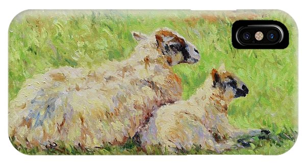 Sheep In The Spring Time,la Vie Est Belle IPhone Case
