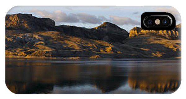 Sheep Mountain Sunrise - Panoramic-signed-12x55 IPhone Case