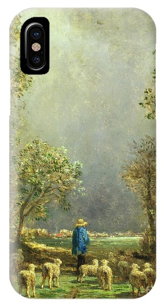 Sheep Watching A Storm IPhone Case