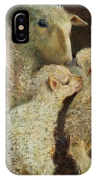 Sheep With Two Lambs IPhone Case