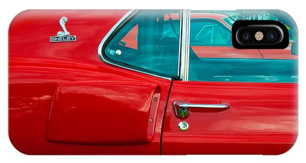 Red Shelby Mustang Side View IPhone Case