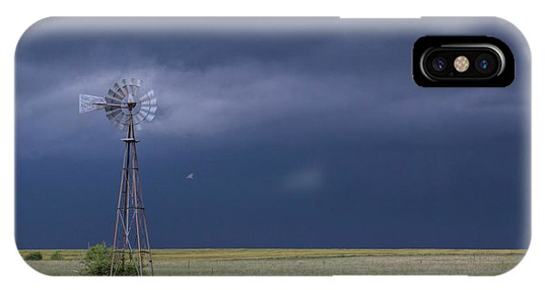 Shelf Cloud And Windmill -02 IPhone Case
